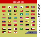 set of vector asian flags.icon... | Shutterstock .eps vector #750208000