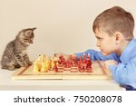 young grandmaster with a pretty ... | Shutterstock . vector #750208078