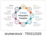 circle infographics template... | Shutterstock .eps vector #750212320