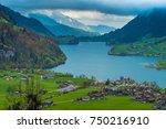 Lake Sarnen, canton of Obwalden, Switzerland.