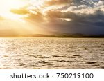 water under the sunlight and...   Shutterstock . vector #750219100