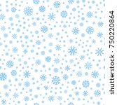 Seamless Colored Snowflakes...