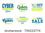 cyber monday sale badge... | Shutterstock .eps vector #750223774