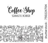 Seamless Border Coffee Design...