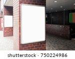 blank outdoor bus and shop... | Shutterstock . vector #750224986