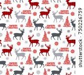 christmas deer. tree....   Shutterstock .eps vector #750226759