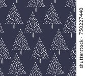 hand drawn seamless pattern... | Shutterstock .eps vector #750227440