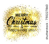 merry christmas holidays... | Shutterstock .eps vector #750227860