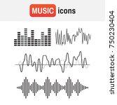 wave sound soundwave icon.... | Shutterstock . vector #750230404