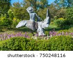 isolated garden statue.... | Shutterstock . vector #750248116