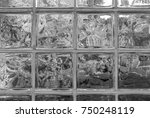 glass bricks with view of... | Shutterstock . vector #750248119