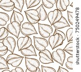 buckwheat. corn. seed. sketch.... | Shutterstock .eps vector #750249478