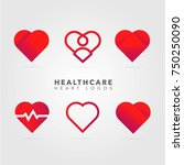 hearts icon  logo collection | Shutterstock .eps vector #750250090