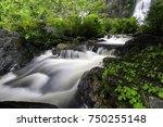 khlong lan waterfall  the... | Shutterstock . vector #750255148