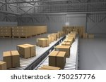 warehouse boxes. boxes in... | Shutterstock . vector #750257776