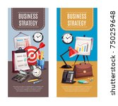 business strategy 2 vertical... | Shutterstock .eps vector #750259648