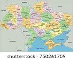 ukraine   highly detailed... | Shutterstock .eps vector #750261709