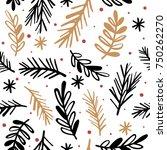 seamless pattern with fir... | Shutterstock .eps vector #750262270