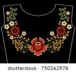 embroidery fashion patch for... | Shutterstock .eps vector #750262978