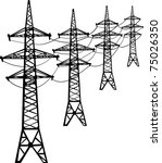 illustration with high voltage... | Shutterstock .eps vector #75026350