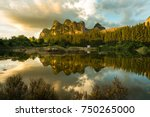 fantastic view of ego mountain... | Shutterstock . vector #750265000