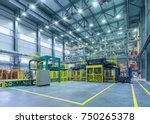 chemical factory. packing area | Shutterstock . vector #750265378