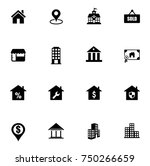 real estate icons set | Shutterstock .eps vector #750266659