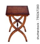 the table in mahogany isolated... | Shutterstock . vector #750267283