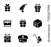 package icons set   Shutterstock .eps vector #750267496