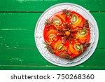delicious sweet fruit cheese... | Shutterstock . vector #750268360