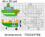 grid copy game. copy the... | Shutterstock .eps vector #750269788