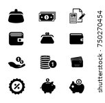 money icons set | Shutterstock .eps vector #750270454