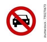 no parking sign vector   Shutterstock .eps vector #750270673