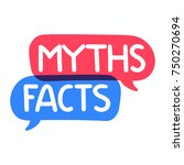 Myths  Facts. Vector Hand Draw...