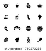 food icons set | Shutterstock .eps vector #750273298