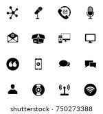 communication icons set   Shutterstock .eps vector #750273388