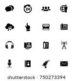 communication icons set   Shutterstock .eps vector #750273394