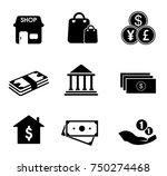 commerce icons set   Shutterstock .eps vector #750274468