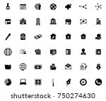 business icons set | Shutterstock .eps vector #750274630