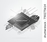 abstract black and white banner ... | Shutterstock .eps vector #750275614