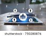 human resource management  hr ... | Shutterstock . vector #750280876