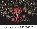 christmas invitation for... | Shutterstock .eps vector #750284320