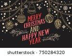 christmas invitation for... | Shutterstock .eps vector #750284320