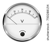 voltmeter. round gauge with... | Shutterstock .eps vector #750288154