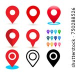 location pin set. for your... | Shutterstock .eps vector #750288526
