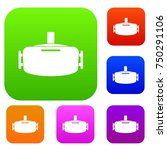 vr device set icon color in... | Shutterstock .eps vector #750291106