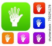 vr manipulator set icon color...   Shutterstock .eps vector #750291178