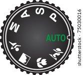 camera mode dial for choosing... | Shutterstock .eps vector #75030016