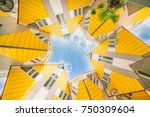 star shapes formed where six... | Shutterstock . vector #750309604