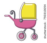 baby carriage tricycles icon.... | Shutterstock .eps vector #750310054